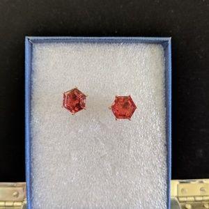 Salmon quartz earrings